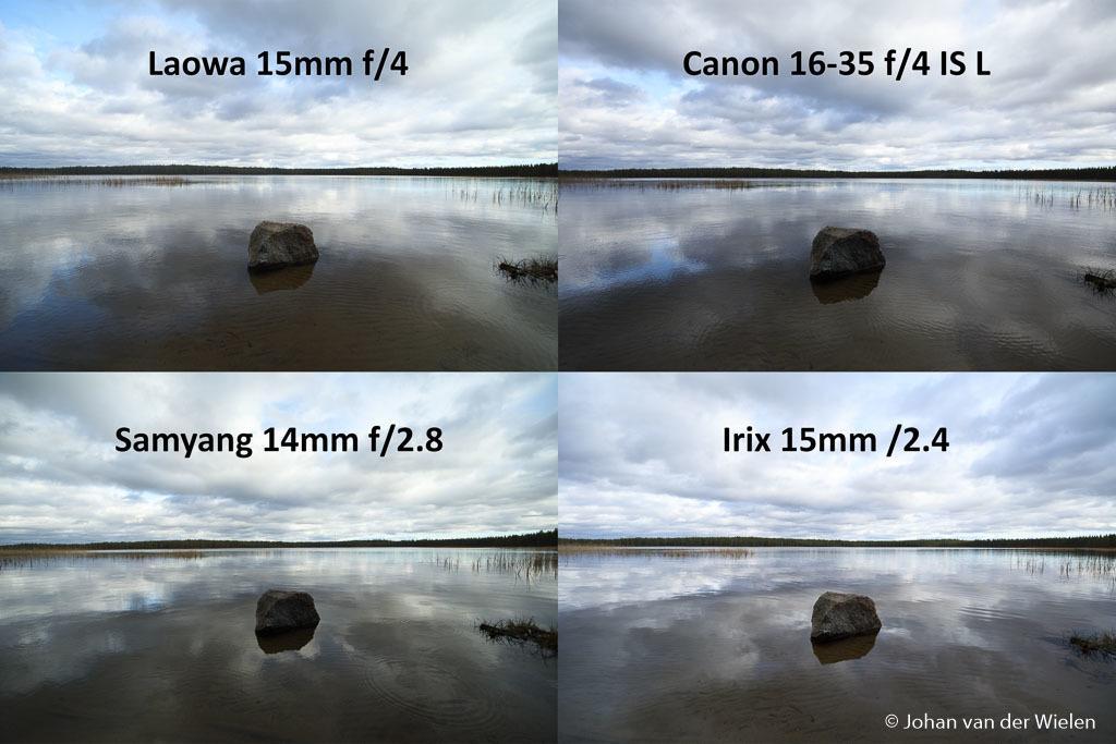 Ultra-groothoek lenzen (15mm f/2.4) zonder compromissen